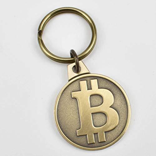 Yuxiny Moneda chapada en oro Bitcoin Bit Litecoin Ondulación Conmemoración Moneda Metal...