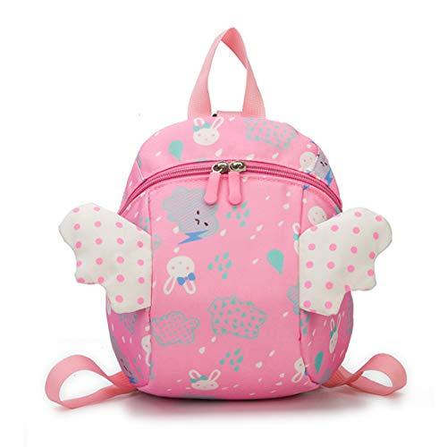 X-Labor Engel Kinderrucksack mit Leine Antiverlust Sicherheitsgurt ab 1 Jahr Babyrucksack Kleinkinder Mädchen Jungen rosa