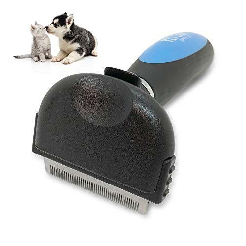 Pet Craft Supply SelfCleaning Pet Grooming Hair Deshedding Brush Tool for Small Dogs and Cats with Short to Long Hair