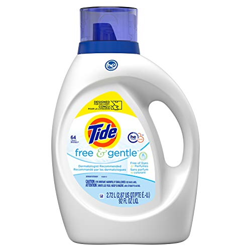 Tide Free & Gentle Liquid Laundry Detergent, 64 loads