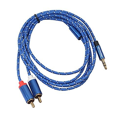 Cable de audio Ttransfer Cable 3.5mm a 2RCA Masculino Línea de audio Splitter Cable Cable Cable Cable Cable 1m Para Auriculares Para Aire Teléfono Smartphone Accesorios Electrónica
