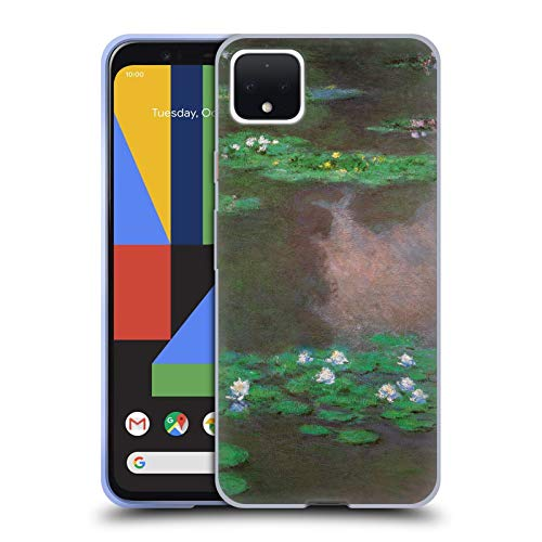 Head Case Designs Oficial Masters Collection Lirios de Agua 1 Pinturas 2 Carcasa de Gel de Silicona Compatible con Google Pixel 4 XL