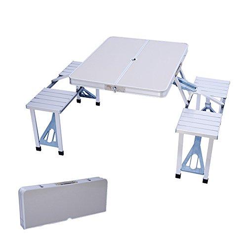 GYH zhuozi LJHA Table Pliante/Table Pliante extérieure portative/Tables et chaises siamoises/Table Pliante en Alliage d'aluminium Table (Couleur : # 2)