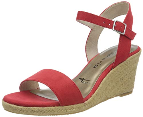 Tamaris Damen 1-1-28300-24 Peeptoe Sandalen, Orange (FIRE 686), 38 EU