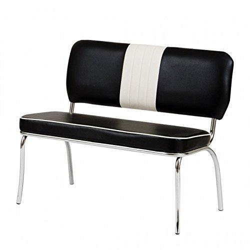 wendland-moebel.de Hausmarke Sitzbank Paul American Diner in schwarz weiß