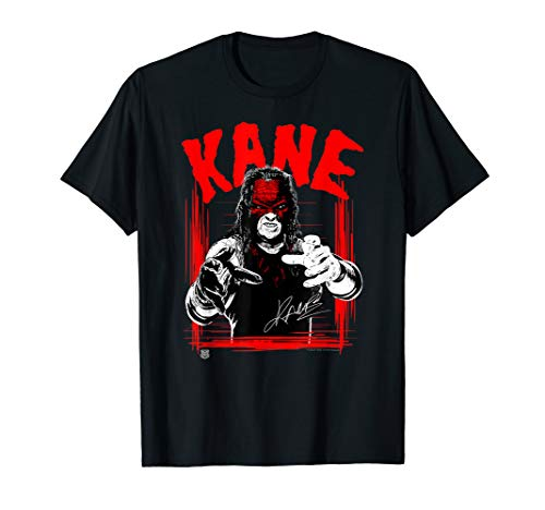 WWE KANE Horror Font T-Shirt