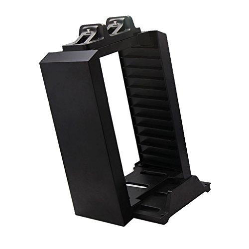 H HILABEE Dual Ladestation Mit 12 Slot Game Disc Speicherhalterung Für PS4