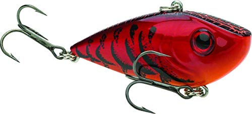 Strike King REYESD34-450 Red Eyed Shad, Delta Red, 0.065