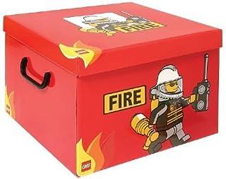 LEGO - Caja para Guardar (tamaño XL), diseño de Bombero en Color Rojo: Amazon.es: Juguetes y juegos