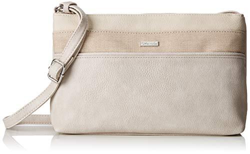Tamaris Damen Khema Crossbody Bag S Umhängetasche, Beige (Pepper Comb) 6.5x17x27 cm