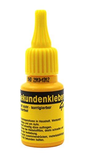 1 x Sekundenkleber GEL 20 g Industriequalität ✓ Atomkleber ✓ Alleskleber ✓ Universalkleber ✓ Blitzkleber ✓von Langlauf Schuhbedarf® … (1 Flasche)