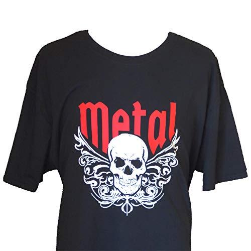 Herren Skull T-Shirt mit Totenschädel Motiv für Metal Rock Fans