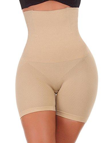 NINGMI Femme Panties Culotte Taille Haute Gainante Minceur Ventre Plat Efficace sous-vêtements, Beige, M