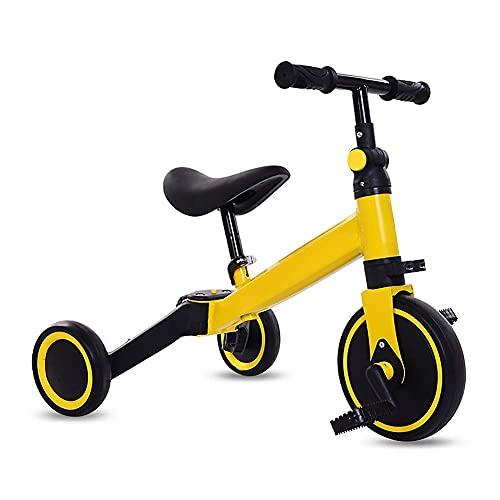 Triciclo Triciclo triciclo 3 en 1 Triciclo para niños, triciclo plegable, bicicleta de entrenamiento al aire libre ajustable al aire libre, para 1-4 años de edad, niñas y niñas, regalo de cumpleaños,