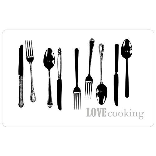 Decorline 28,5x 44cm Love cocinar Transparente–Mantel