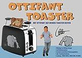 Toaster mit Ottifant Röstlogo und Brötchen Aufsatz by Otto Waalkes