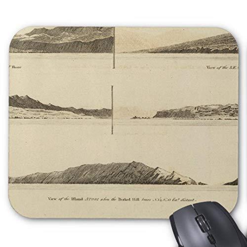 Mauspad/Mauspad, rutschfest, Gummi, rund, für Computer/Laptop, 20 x 24 cm, Sandwich-Inseln, 2 Stück