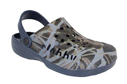 buyAzzo Kinder Slobby Clogs | Hausschuhe Freizeitclogs | Badeschuhe Schlappen | Badeclogs Gartenschuhe | Schule Freizeit Komfort Schuhe | BA571 (39, Blau)