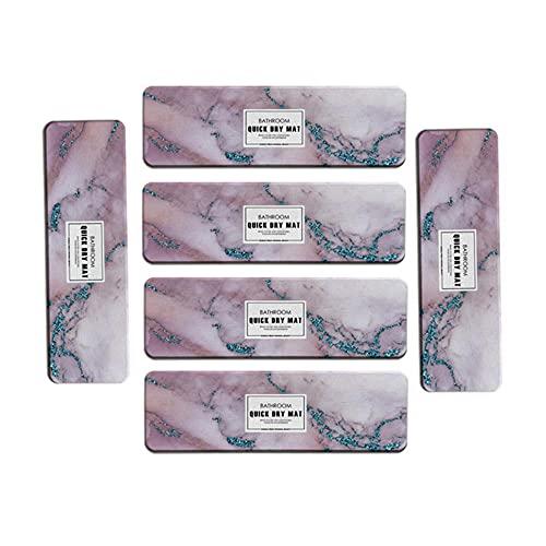 YOURAN Juego de 6 manteles individuales con diatomeas de mármol, absorbentes de secado rápido, para jabón, posavasos