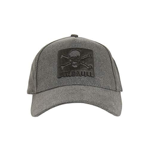 FC St. Pauli Kappe Cap Kopfbedeckung Snapback Aufdruck Black Box Totenkopf Damen Herren Unisex grau