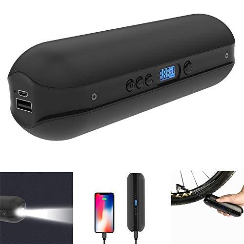 Elektrische compressor draagbare auto-luchtpomp draagbare bandenpomp mini fietspomp met LCD-display met oplaadbare batterij I50PSI 12V zwart voor auto fiets RV motorfiets