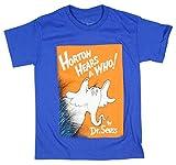 Dr. Seuss Boy's Horton Hears A Who Lovable Elephant Royal Blue T-Shirt (Small 6/8)