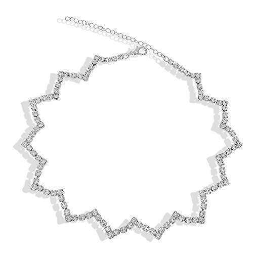 Collar Joyas Collar Colgante para El Cuello Collar De Forma De Onda Corta Europea Y Americana Collar De Temperamento De Moda, para Novia, Esposa, Regalo De CumpleañOs De Mamá