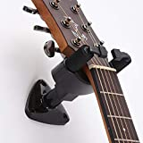 Fansjoy Soporte Guitarra Pared, Colgador Guitarra Pared, Negro Ganchos de la Pared para para Guitarra Eléctrica Acústica, Bajo, Sajona, Ukulele, Violín, Mandolina