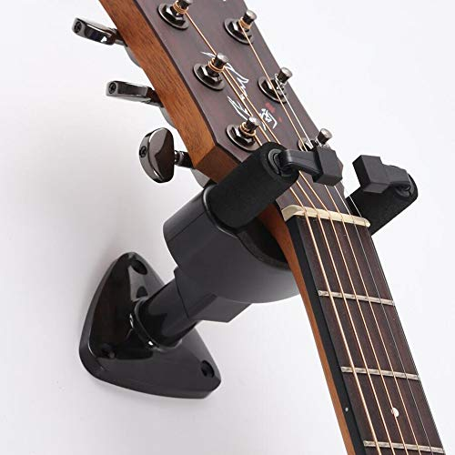 Fansjoy Soporte Guitarra Pared, Colgador Guitarra Pared, Negro Ganchos de la Pared...