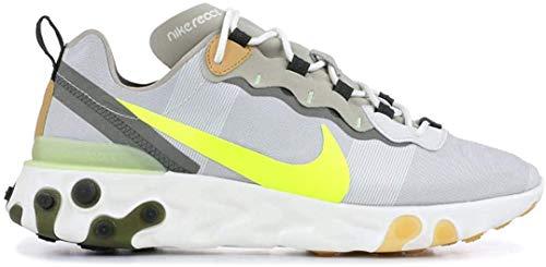 Nike Herren React Element 55 Leichtathletikschuhe, Mehrfarbig (Spruce Aura/Volt/Spruce Fog/Barely Volt 000), 47.5 EU