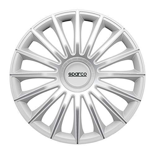 Satz SPC1492SV Sparco Torino Radzierblenden Torino 14-Zoll Silber