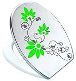 Adhesivo para tapa de inodoro WC St02 para Pressalit antracita/Verde Claro de vinilo