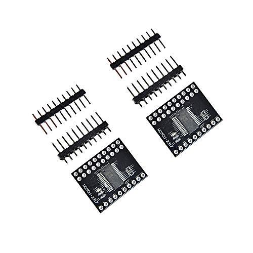 Comimark 2Pcs MCP23017 Bidirectional 16-Bit I/O Expander with I2C IIC Serial Interface Module