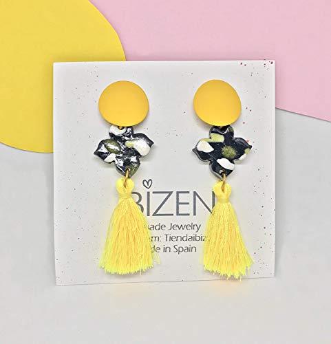 Ohrringe MARBELLA scheint wie die Sonne. Gelbe Hochzeit Ohrringe. Elegante Ohrringe zur Taufe. Ohrringe für Frauen. Mode Ohrringe