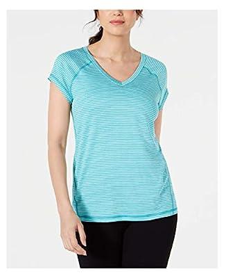 Ideology Striped V-Neck T-Shirt, Laguna L