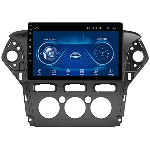 Android 10.0 8 Core Car stereo radio de navegación por satélite FM AM Autoradio 2.5D Pantalla táctil para Ford MONDEO 2011-2013 Navegador GPS Bluetooth WIFI GPS U(Size:WIFI 1G+16G,Color:Manual)