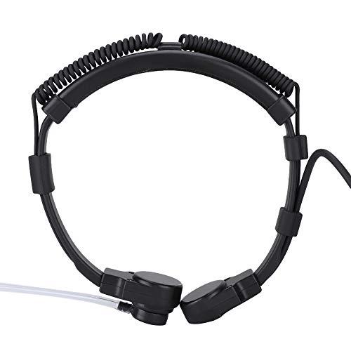 Hals-microfoon-hoofdtelefoon, akoestische buis-hals-microfoon-headset microfoon met instelbare verborgen luchtleiding voor Motorola Radio HT1000 MT2000 MT6000 PR1500 XTS2500 XTS2250/4250 Walkie Talkie