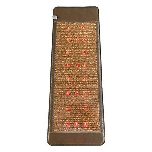 ZMIN Energía de fotones Colchón de Masaje Infrarrojo lejano, Almohadilla térmica Turmalina Piedra, Temperatura de Control Libre para El Alivio del Dolor,C,90 * 190cm
