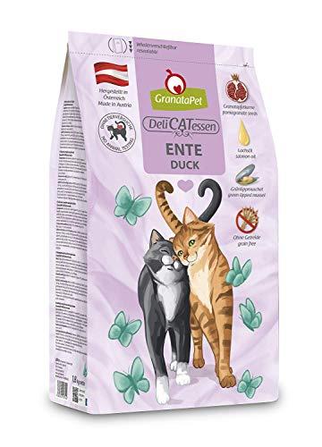 GranataPet Delicatessen Ente Adult, Trockenfutter für Katzen, schmackhaftes Katzenfutter, Alleinfuttermittel ohne Getreide & ohne Zuckerzusätze, 300 g
