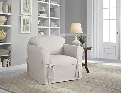 Serta | Cozy Cottage Relaxed Fit Anti-Wrinkle Furniture Cover (Chair, Nickel)