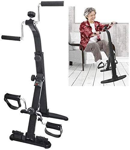 DSHUJC Macchina Portatile per Esercizi a Pedale con Display LCD e Rullo per Massaggio ai Piedi, Macchina per Allenamento Fitness Indoor a Resistenza Regolabile