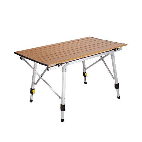 折りたたみ テーブル ロールテーブル キャンプ アウトドア アルミレジャーテーブル 高さ調整可能 ピクニック 運動会 レジャー キャンプ コンパクト