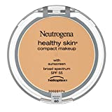 Neutrogena Healthy Skin Compact Lightweight Cream Foundation Makeup with Vitamin E Antioxidants, Non-Greasy Foundation with Broad Spectrum SPF 55, Natural Beige 60,.35 oz