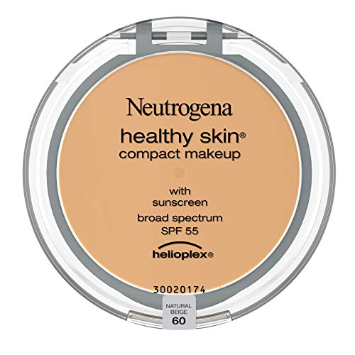 Neutrogena Healthy Skin Compact Lightweight Cream Foundation Makeup with Vitamin E Antioxidants, Non-Greasy Foundation with Broad Spectrum SPF 55, Natural Beige 60.35 oz