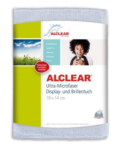 ALCLEAR 950003i Ultra-Microfaser Displaytuch für iPhone, iPad und iPod, 19x14 cm, weiß