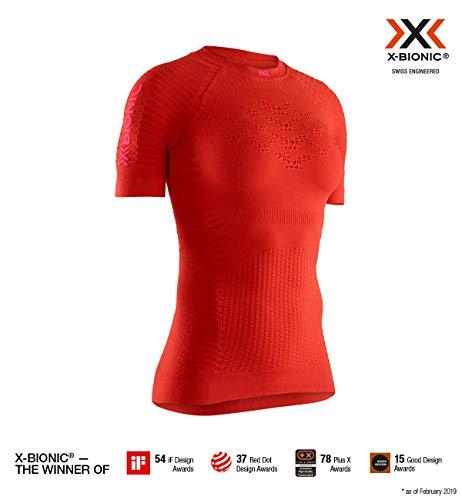 X-Bionic Effektor 4.0 Run Chemise Femme, Sunset Orange/Namid Red, FR : M (Taille Fabricant : M)