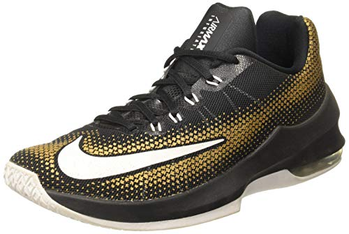 Nike Herren Air Max Infuriate Low Basketballschuh, Grn (Schwarz Silber Dunkelgrau), 38 EU