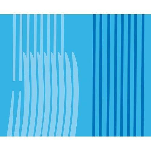 Gedy Duschvorhang aus Polyester Monocromo Orange 120x 20