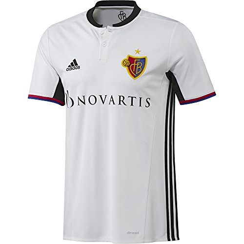 adidas Herren FC Basel Replica Trikot, White/Black, L