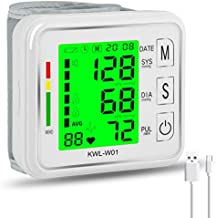 Wrist Blood Pressure Monitor,MOICO Voice Broadcast Automatic Digital Blood Pressure Monitor with USB Charging, Backlight LCD Display-BP Monitor Blood Pressure Cuff Detects Irregular Heartbeat